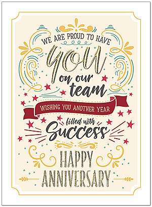Anniversary Success Greeting Card A9063U-X