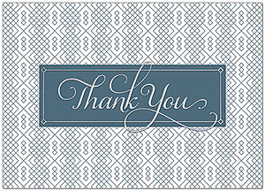 Pattern Thank You Card A9064D-X