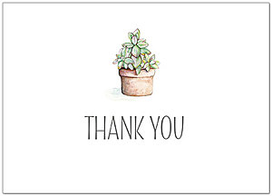 Succulent Thank You Card A9071D-X