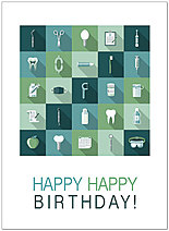 Dental Icon Birthday Card D9041U-X