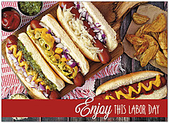 Hotdog Labor Day Card D9043U-Y
