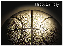 Basketball Birthday Card D9048U-Y
