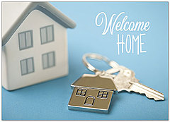 Welcome Keys Greeting Card D9053D-Y