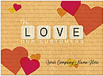 Valentine's Name Card D9072U-V