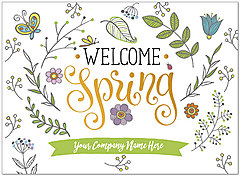 Happy Spring Name Card D9077U-V