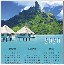 Tropical Premium Calendar Card C9105U-AAA