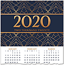 Patterned Premium Calendar Card C9106U-AAA