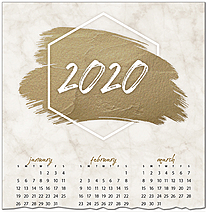 Bronze Brush Calendar Card C9117U-AA