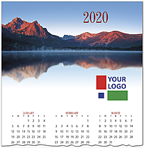 Mountain Lake Logo Calendar Card D9132U-4A