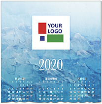 Blue Waters Logo Calendar Card D9133U-4A