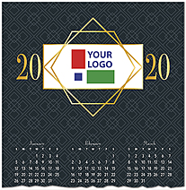 Corporate Logo Calendar Card D9134U-4A