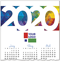 Colorful Logo Calendar Card D9135U-4A