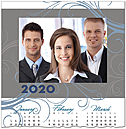 Swirl Photo Calendar Card D9138U-4A