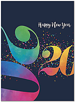 Graphic 2020 New Year Card D9185U-A
