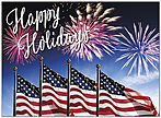 Fireworks Holiday Card D9187U-A