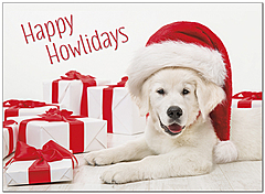 Howliday Greetings Holiday Card D9195U-A