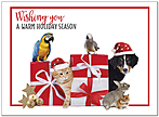 Seasonal Pets Holiday Card D9197U-A