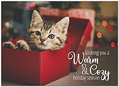 Cozy Kitten Holiday Card D9198U-A