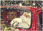 Vintage Santa Holiday Card D9202U-A