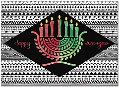 Kwanzaa Candles Card D9204U-A