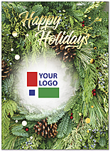 Pine Wreath Logo Card D9211U-4A
