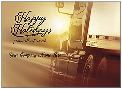 Holiday Trucking Name Card D9212U-4B
