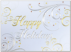 Elegant Swirls Holiday Card H9147G-4A