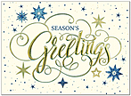 Star Greetings Holiday Card H9150V-AAA