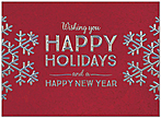 Holiday Snowflakes Greeting Card H9152S-AAA