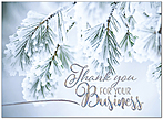 Snow Covered Thanks Holiday Card H9154S-AAA