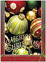 Christmas Baubles Holiday Card H9155G-AAA