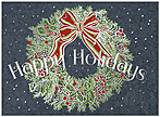 Graphic Wreath Holiday Card H9163U-A