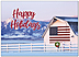 Patriotic Barn Holiday Card H9166D-A
