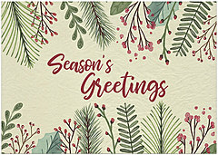 Red Berry Greetings Holiday Card H9168KW-AA