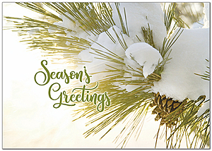 Seasonal Pine Holiday Card H9169KW-AA
