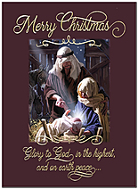 Glory to God Christmas Card H9174U-AA