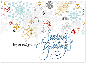 Colorful Snowflakes Holiday Card H9177U-AA