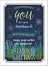 Seasonal Teamwork Holiday Card H9178U-AA