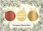 Ornament Die Cut Holiday Card H9179U-AAA