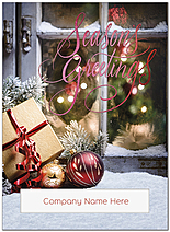 Winter Greetings Die Cut Holiday Card H9180U-AAA