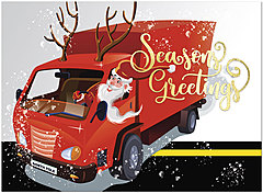 Trucking Santa Holiday Card H9201U-AA