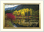 Golden Reflection Thanksgiving Card H9082V-AAA