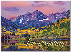Maroon Lake Thanksgiving Card H9084G-AAA