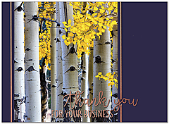 Business Birch Thanksgiving Card H9087U-AA