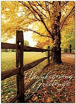 Fence Line Greetings Thanksgiving Card H9092U-AA