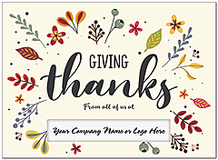 Giving Thanks Die Cut Thanksgiving Card H9093U-AA
