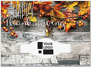 Natural Die Cut Thanksgiving Card H9094U-AA