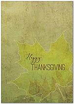 Graphic Leaf Thanksgiving Card H9098KW-AA
