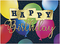 Cosmic Balloons Birthday Card A1402G-W