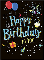 Iconic Birthday Card A1410U-X